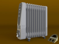 3d house portable oil radiator model