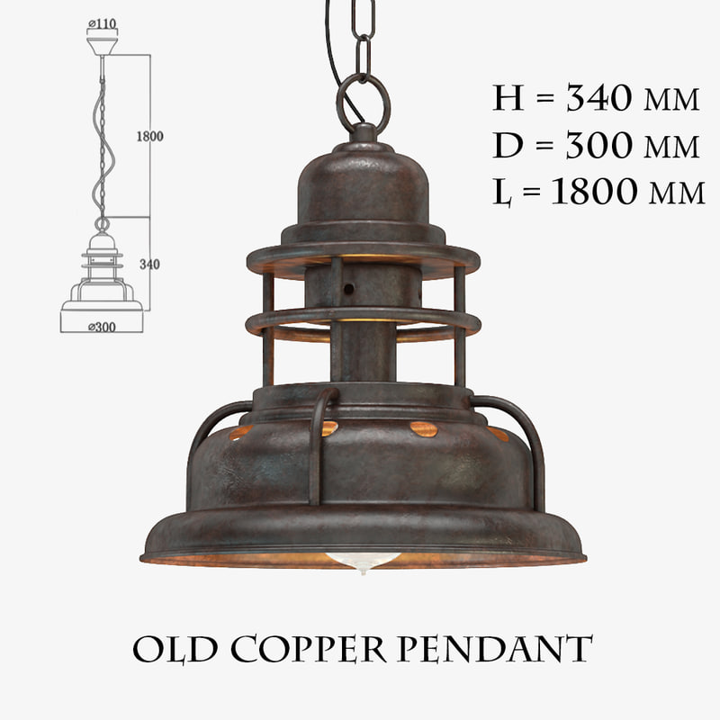 old copper pendant max