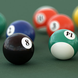 pool snooker balls 3d c4d