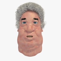 realistically old male head 3d model