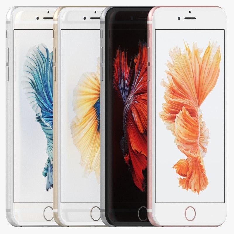 3d apple iphone 6s colors