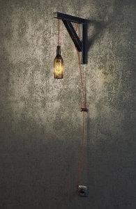 industrial wall lamp bottle 3d model