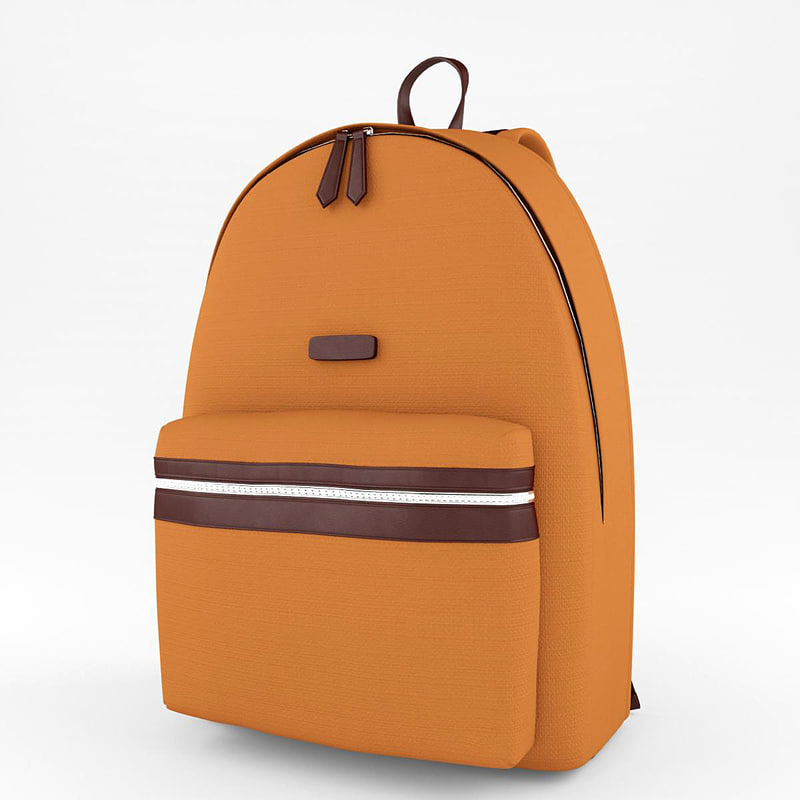 3d backpack accessories model
