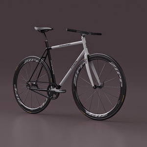 fixed gear bicycle - 3d max