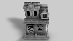 c4d old house