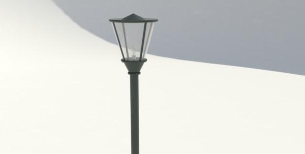 3d park lamp model