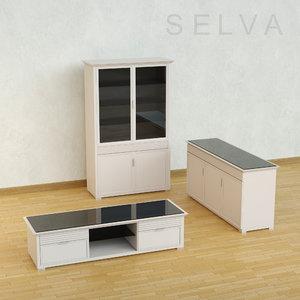 3d furniture selva model