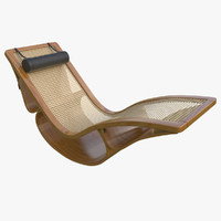 3d rio chaise longue teak