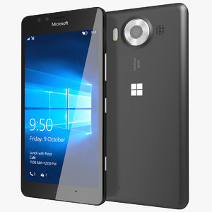 realistic microsoft lumia 950 3d model