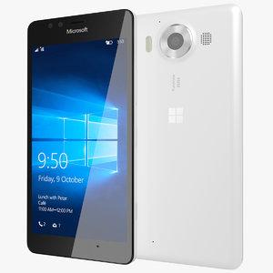 realistic microsoft lumia 950 3ds