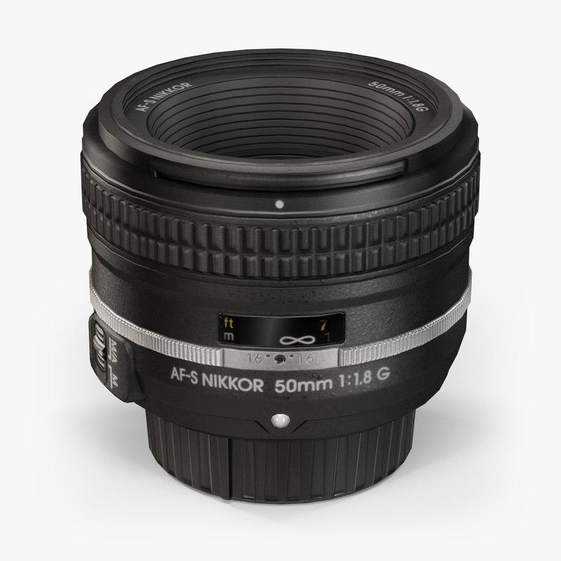 nikon af-s nikkor 50mm 3d model