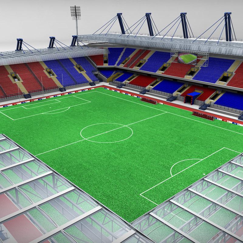 soccer football stadium 3d 3ds