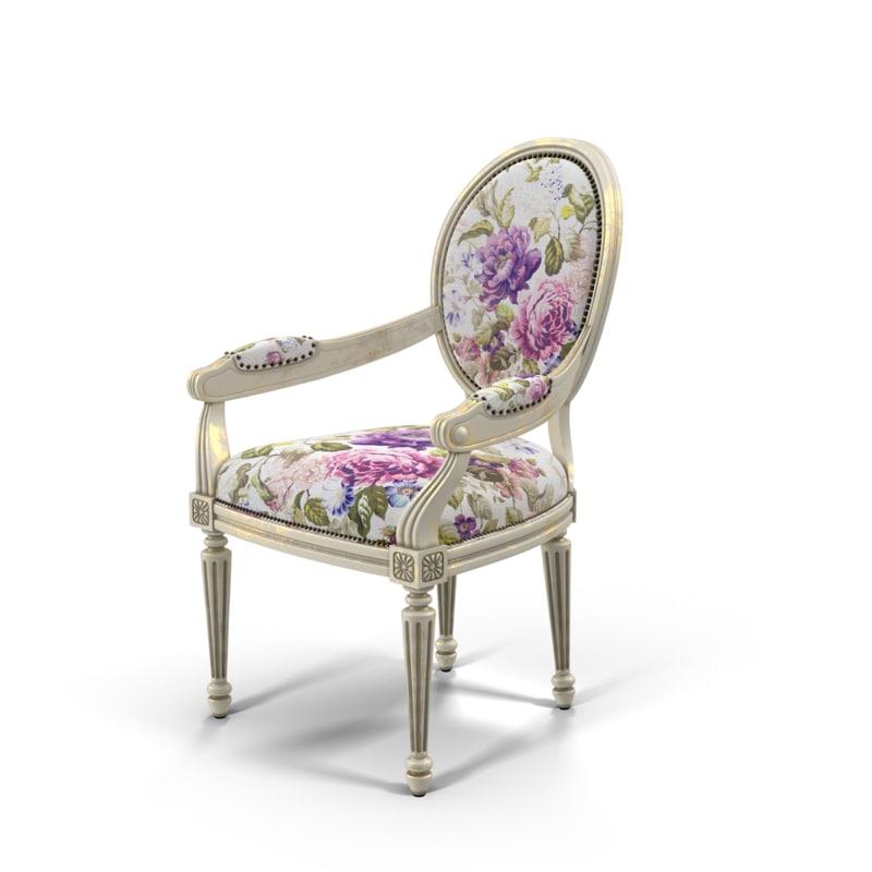 3d model of armchair light