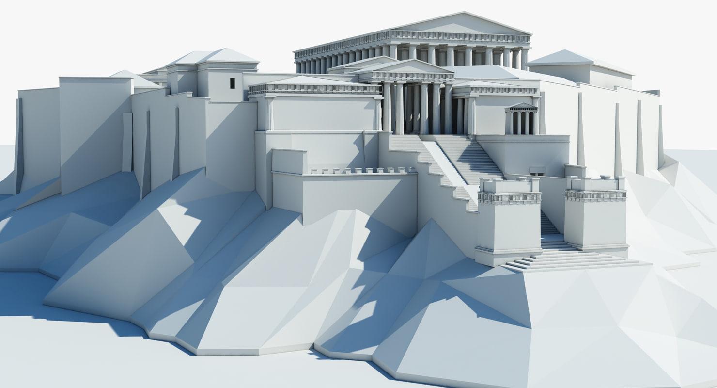 3d acropolis athens model