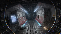 3d model of cargo aircraft interior