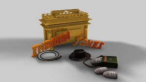 indiana jones objects c4d
