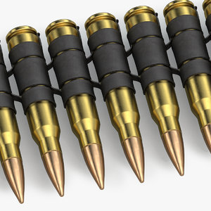 3d model ammo belt