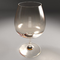3d model brandy glass