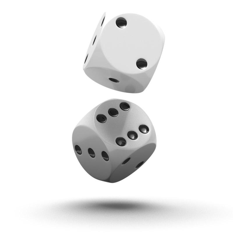 dice white 3d max
