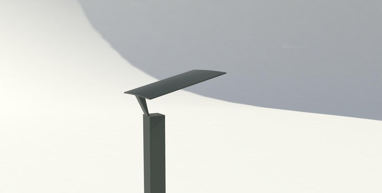 3d model of park lamp