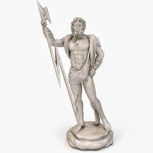 3d model zeus statue