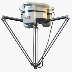 abb irb 360 industrial robot 3d model