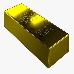 gold bar obj