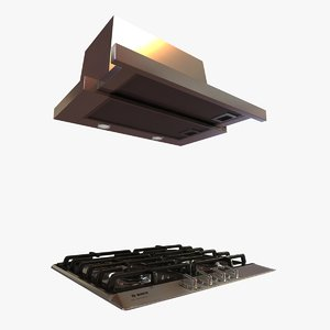 3d 3ds bosch gas cooktop telescopic