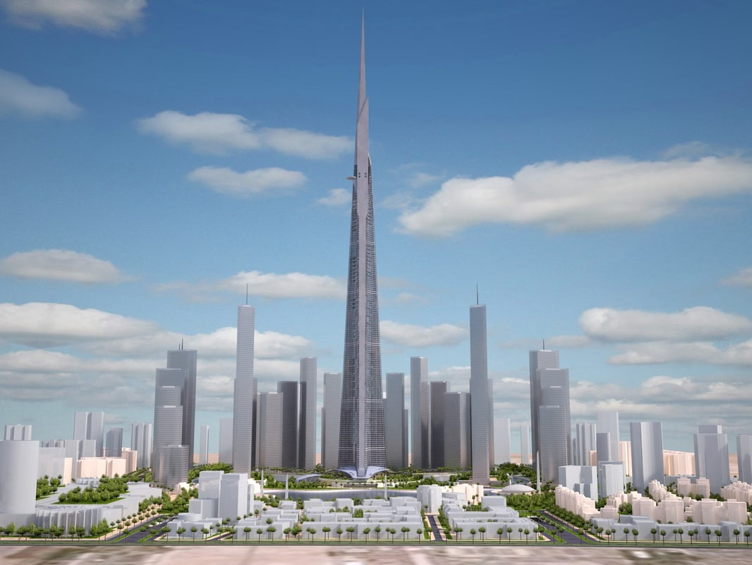 tower burj kingdom c4d