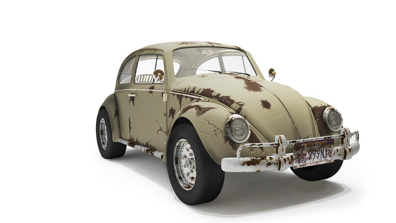 old volkswagen bettle 3d model