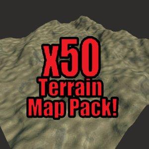 blender desert terrain pack 3ds