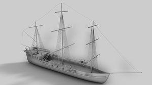 3dsmax ship pirate