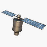3d model iridium satellite
