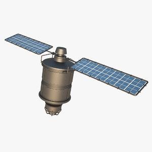 3d model iridium satellite