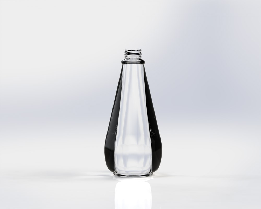 3d model plastic glass bottle
