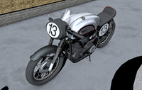 norton manx 3d model