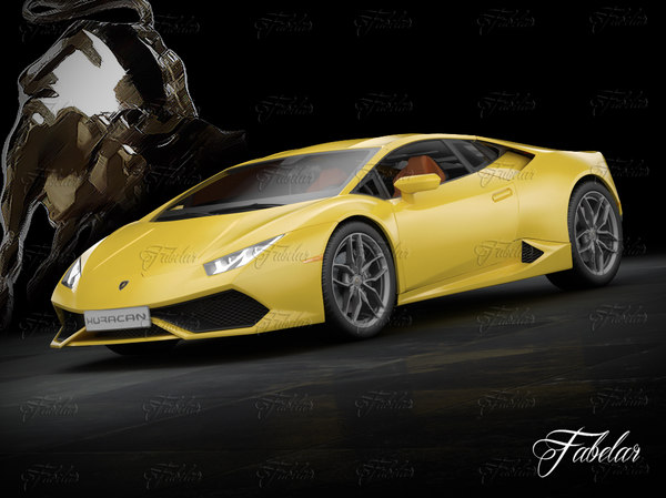 3d lamborghini huracan lp 610-4 model