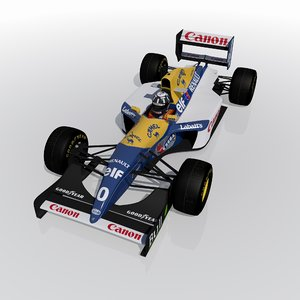 williams fw15c 3d max
