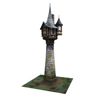 3d medieval tower buildings