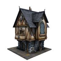 medieval merchant s house 3d obj
