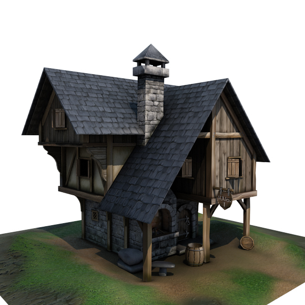 3d model medieval blacksmith s forge