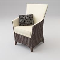 3ds max rattan armchair pillow
