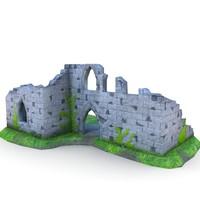 3d medieval ruins buildings