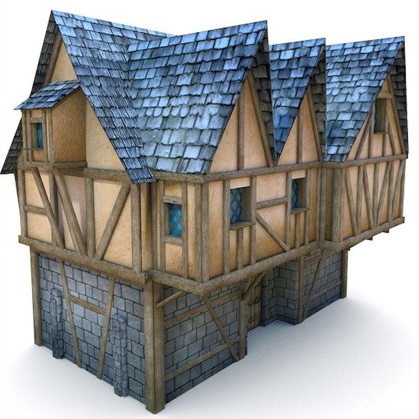 medieval loyalist buildings 3d model