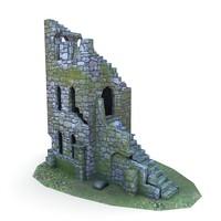 medieval ruins buildings 3d fbx