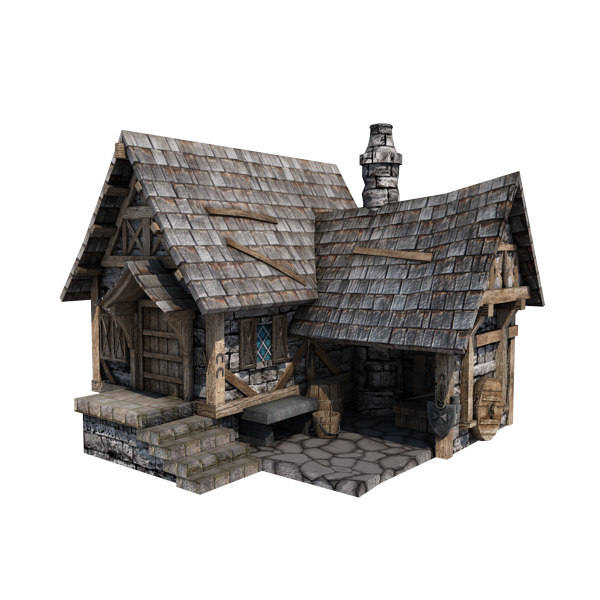 Medieval Blacksmith S Forge 3d Model