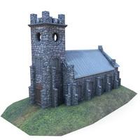 medieval church buildings 3d fbx