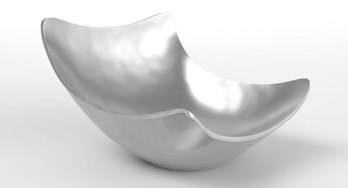 bowl modo aluminum 3d lwo