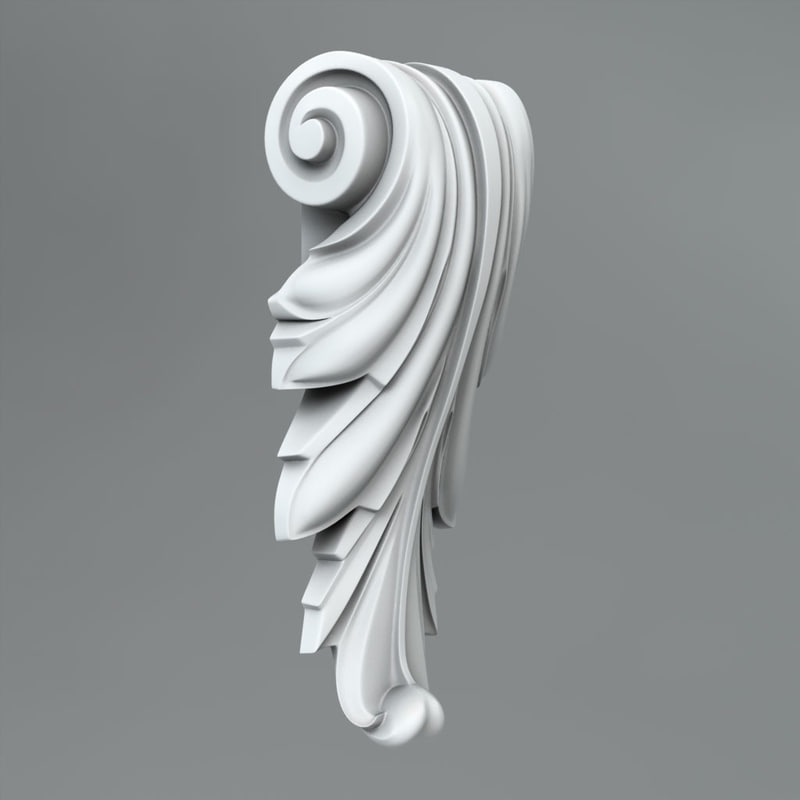 3d classical decoration ornamental