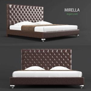 bed mirella 3d model